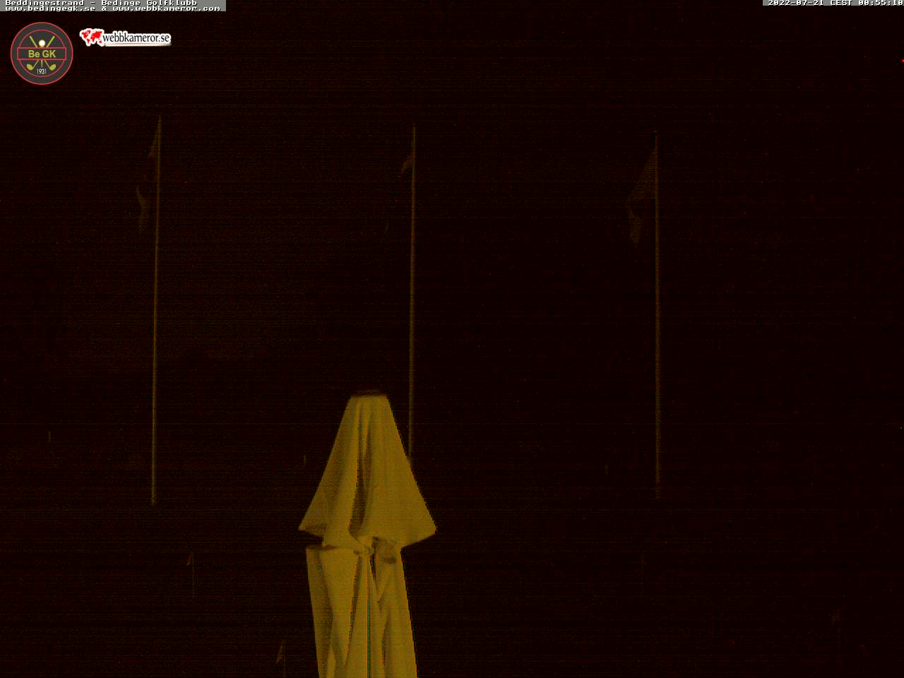Bild från Bedinge GK webbkamera