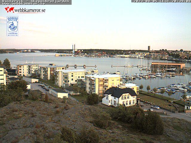 Webbkamera mot Skeppsbrofjärden - Klicka för större bild.