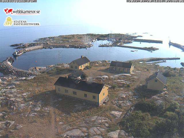 Webcam Utklippan, Karlskrona, Blekinge, Schweden